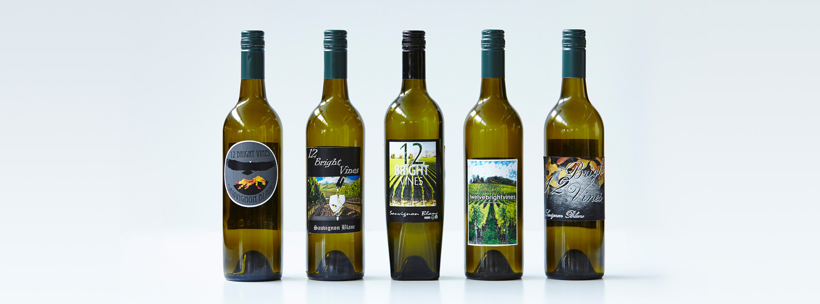 Logo designs for our VCAL wine 12 Bright Vines - Visual Communication